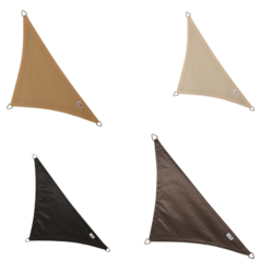 Coolfit schaduwdoek driehoek 90° - 400x400x570cm