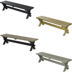 Bench for Picnic Table NOSTALGI - PLUS