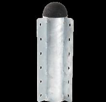Cornière HENRIK BOE galvanisée avec bouchon en caoutchouc recyclé - 2 côtés angle de 90°