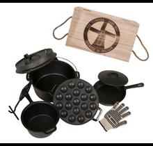 """Set de batterie de cuisine en fonte """"The Windmill Cast Iron"""" pour barbecue"""