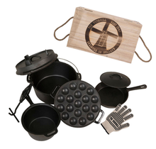 Windmill Cast Iron Starter set for Braai, camp fire, barbecue and oven