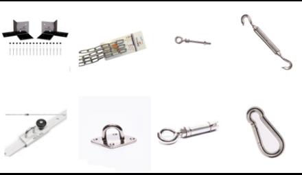 Accessoires voor uw schaduwoplossing