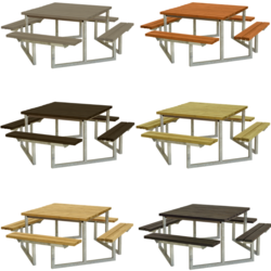 Square picnic table TWIST - PLUS