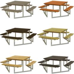 Vierkante picknicktafel TWIST - PLUS