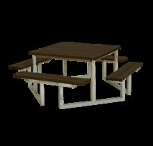 Vierkante picknicktafel TWIST - 8 tot 12 personen