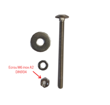 Ecrou hexagonal, M6, inox A2, décapé, passivé, DIN 934