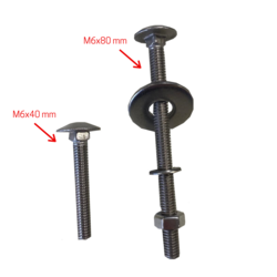 Stainless steel A2 Carriage bolt M6