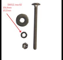 RVS ringen D6x12, rvs A2, DIN9021
