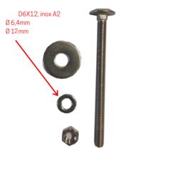 Rondelles D6x12, inox A2