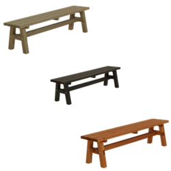 Bench for Picnic Table COUNTRY - PLUS