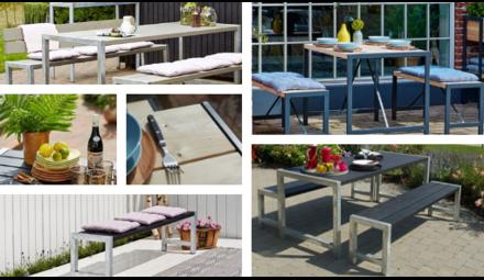 Danish design tables garden