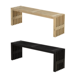 Decorative bench for indoor and outdoor use