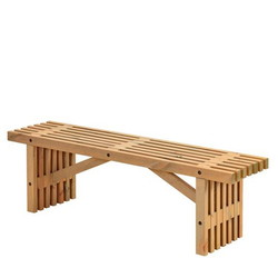Decorative beams bench for indoor and outdoor use - PLUS