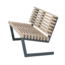 Plus Danemark Garden Bench in wood and steel with backrest- SIESTA