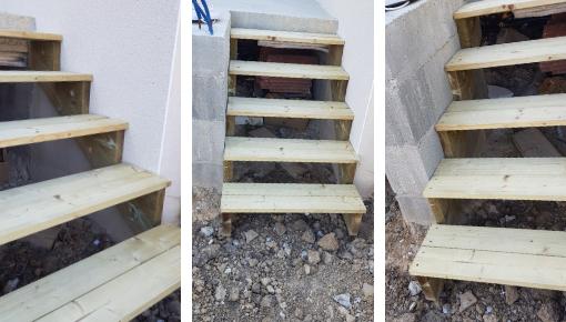 Réalisation escalier 5 marches 120 cm
