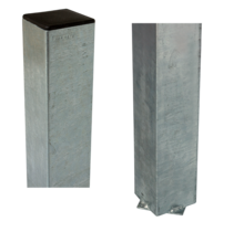 Paal vierkant 8x8cm om in beton te gieten - staal
