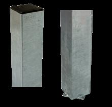 Poteau carré en acier 8x8cm à sceller dans le béton