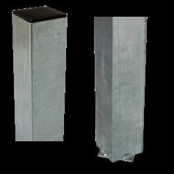 Paal vierkant 8x8cm - beton gieten - staal