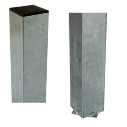 Steel Pole square 8x8cm for casting into concrete