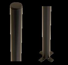 Paal om in beton te gieten - rond - staal - 186cm