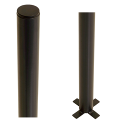 Paal -  beton gieten - rond - staal - 186cm