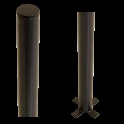 Poteau en acier pour sceller dans le béton - rond - 186cm - PLUS