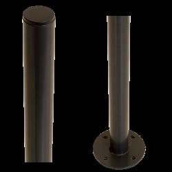 Poteau avec pied - rond - acier - 96cm