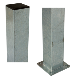 Steel Pole square 4,5x4,5cm with base