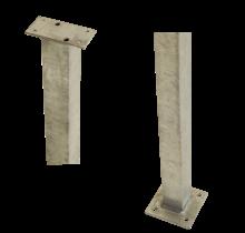 Paal vierkant 4,5x4,5x103,3cm voor rechte leuning – gegalvaniseerd staal