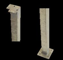 Poteau d'angle carré en acier - 4.5x4.5x103.3cm pour panneaux de garde-corps
