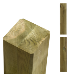Poteau en bois 9x9x369cm