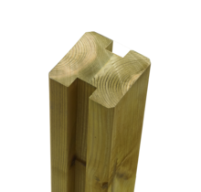 Slotted Fence Post  - 268x9x9cm - Laminated Wood