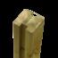 Plus Danemark Tuinpaal met groef - 268x9x9cm - tussenstuk - verlijmd hout