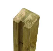 Poteau en bois contrecollé à 1 rainure - 268x9x9cm