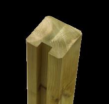 Tuinpaal met groef - 268x9x9cm - eind - verlijmd hout