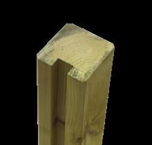 Tuinpaal met groef - 268x9x9cm - eind - hout