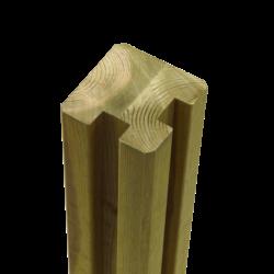 Poteau d'angle en Bois contrecollé- 268x9x9cm