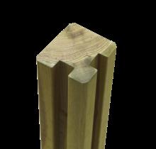 Profielpaal - Sleufpaal - 268x9x9cm - hoek - hout