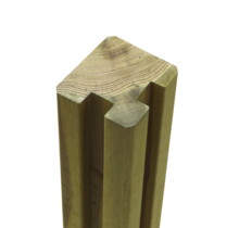 Profile Pole - Slot Pole - 268x9x9cm - angle - wood