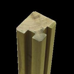 Poteau rainuré d'angle en Bois - 268x9x9cm