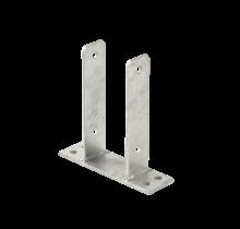 Base de poteau en acier - pour poteaux de 9x9cm - montage en bois ou en béton