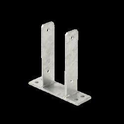 Base de poteau en acier - pour poteaux de 9x9cm - PLUS