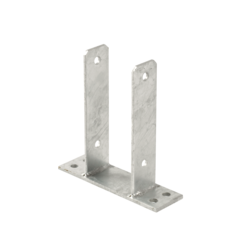 Base de poteau en acier - pour poteaux de 9x9cm