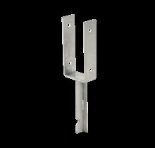 Base de poteau profilé U - scellement béton - 41cm - pour poteau 9x9cm