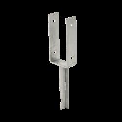 Base poteau profilé U - à sceller dans du béton - pour poteau de 9x9cm - PLUS