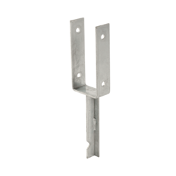 Pole Base U-profile - casting into concrete - for 9x9cm pole