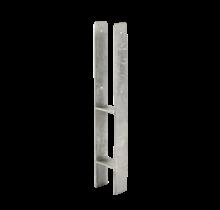 Base de poteau profilé H - scellement béton - 60 cm - pour poteau 9x9cm