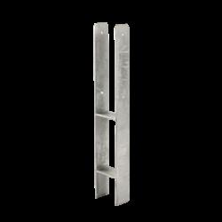 Paalvoet H-profiel - beton gieten - voor 9x9cm paal