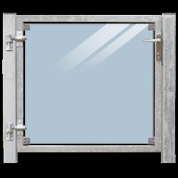 Glass garden door 115x91cm for concrete casting
