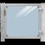 Plus Danemark Glazen tuindeur 115x91cm met slot - in frame met palen om in beton te gieten